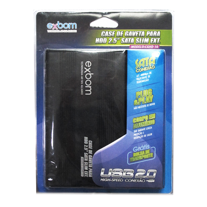 Case Para Hd 2.5 Sata Slim Ext Cghd-10 Preto