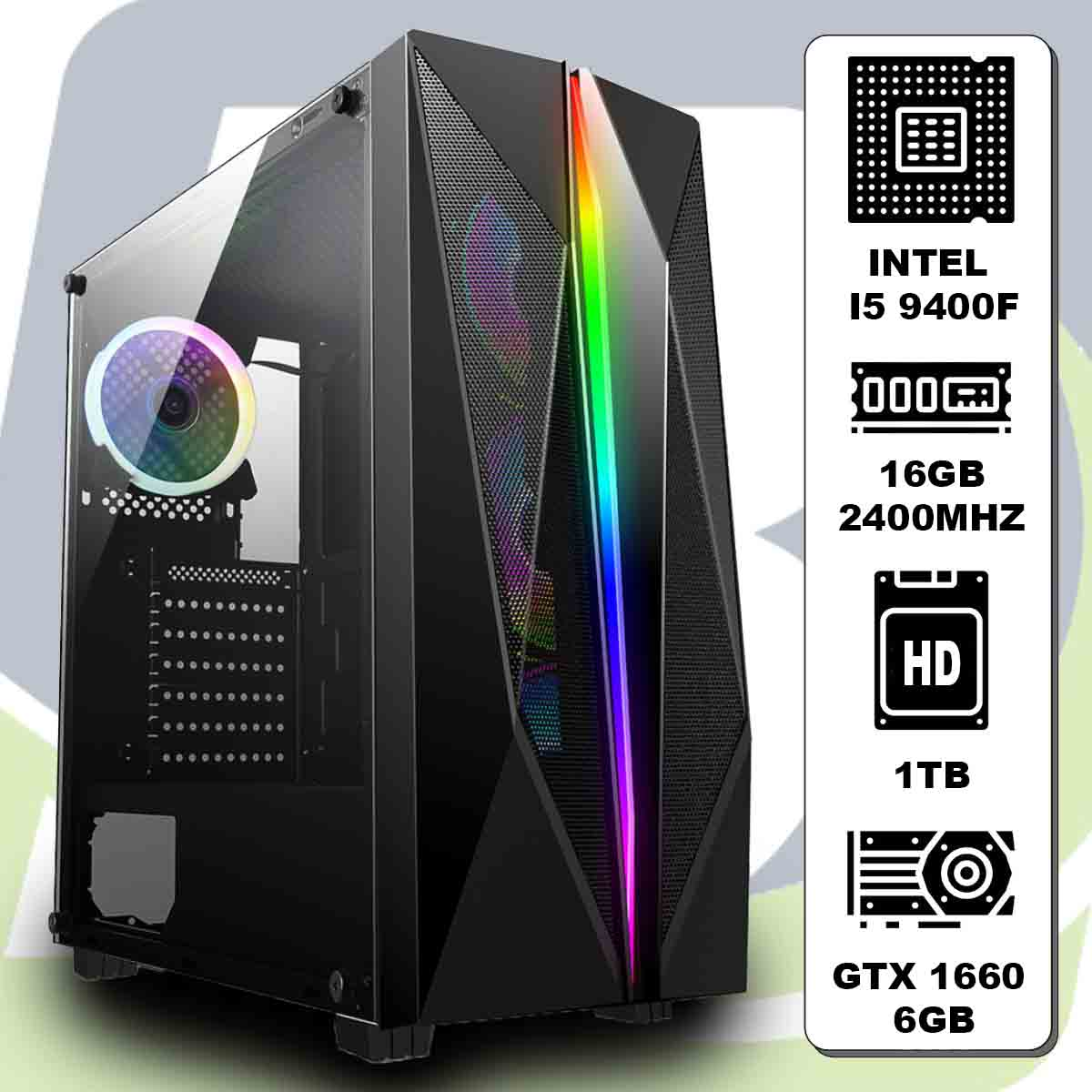 Computador Kit Gamer I5 9400f / 16gb / Hd 1000gb / Gtx 1660 6gb