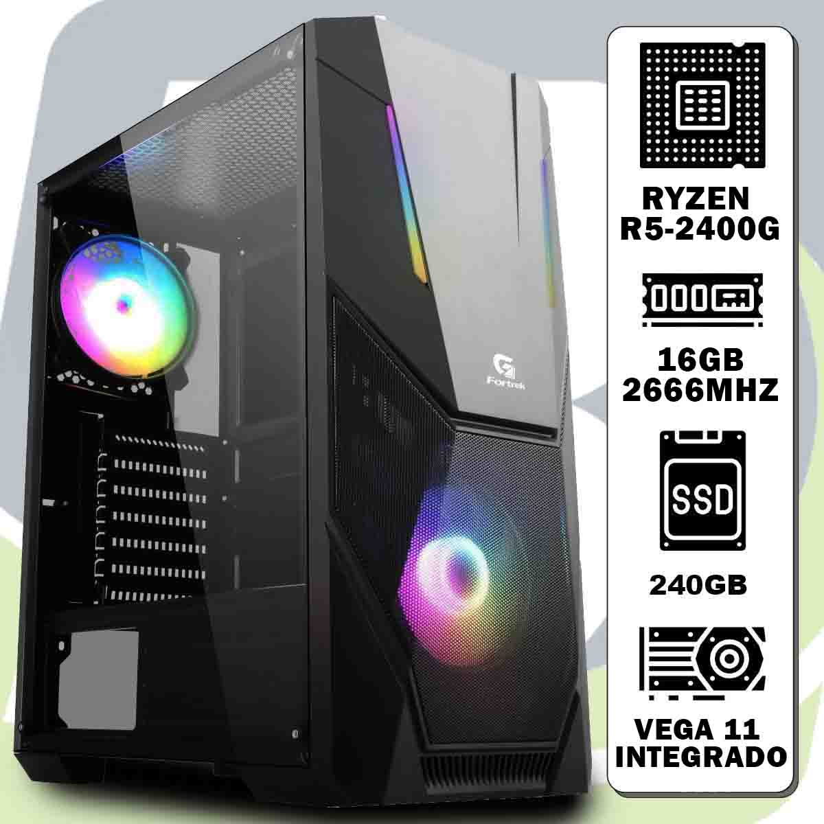 Computador Kit Ryzen R5-2400g / 12gb / Ssd 240gb/vega 11 Integrado