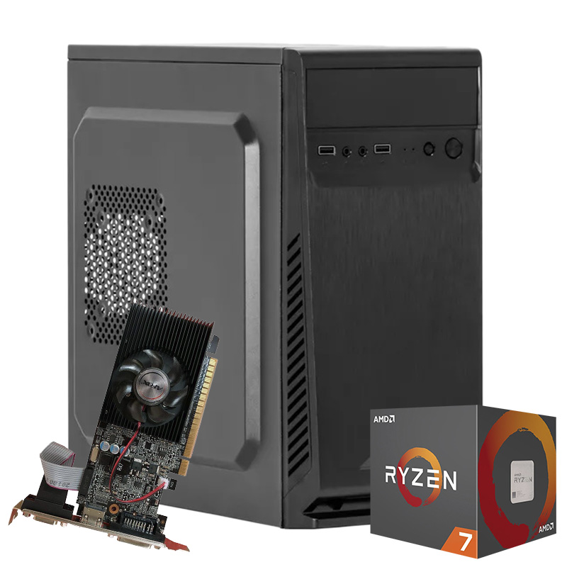 Computador Kit Work/home Amd Am4 Ryzen 7 2700 4gb Ddr4 Ssd 480gb