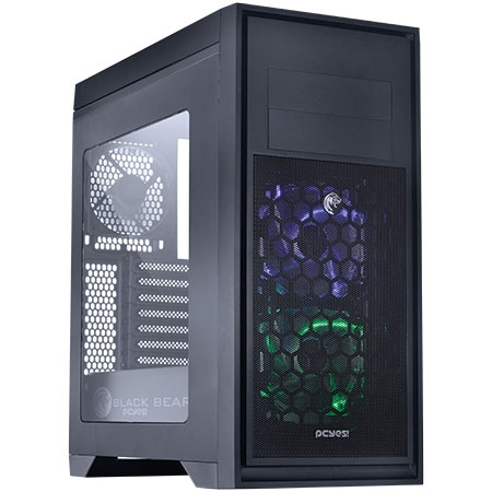 Gabinete Gamer 2b Mid Tower Bear Preto 24561 Bearpto3fca Pcyes