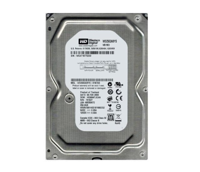 Hd Sata Ii 250gb 7200 3.5 Western Digital Wd2502abys