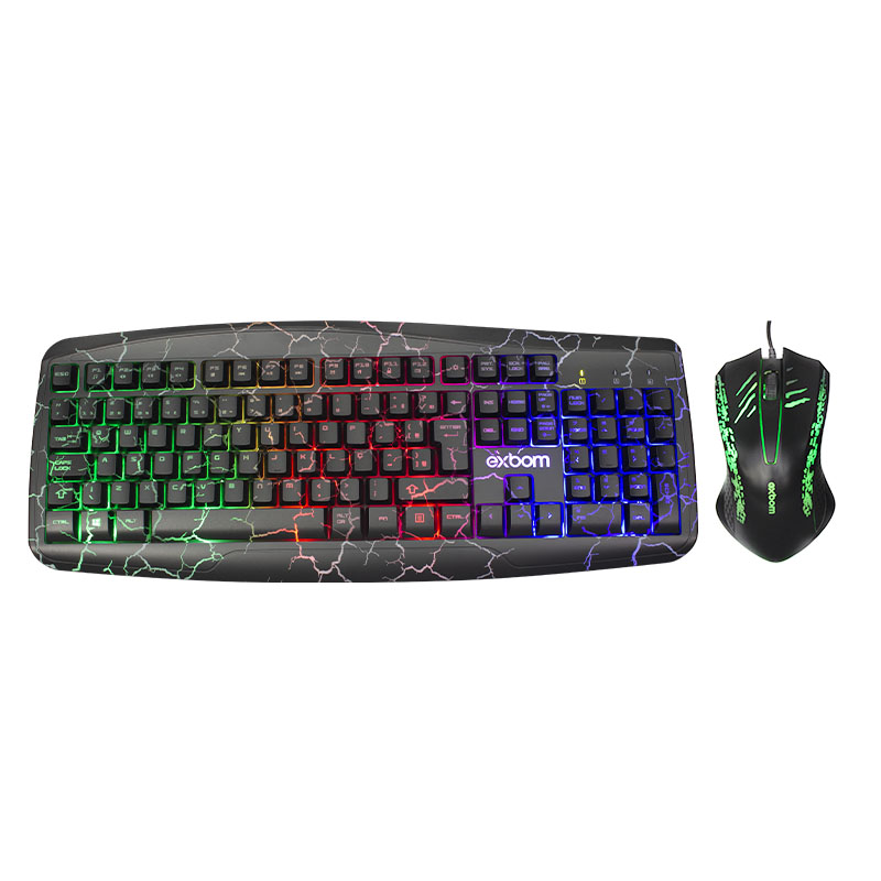 Kit Teclado E Mouse Gamer Usb Led Bk-g600 Exbom
