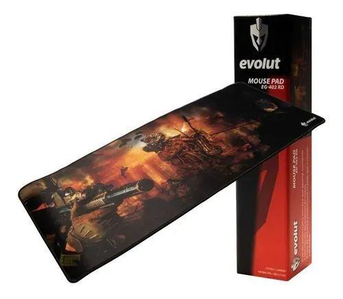 Mouse Pad Gamer Emborrachado Grande Eg-402rd Evolut