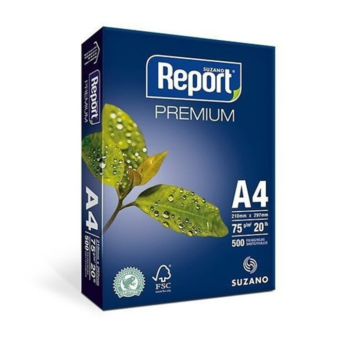 Papel A4 75gr Report Suzano C/500