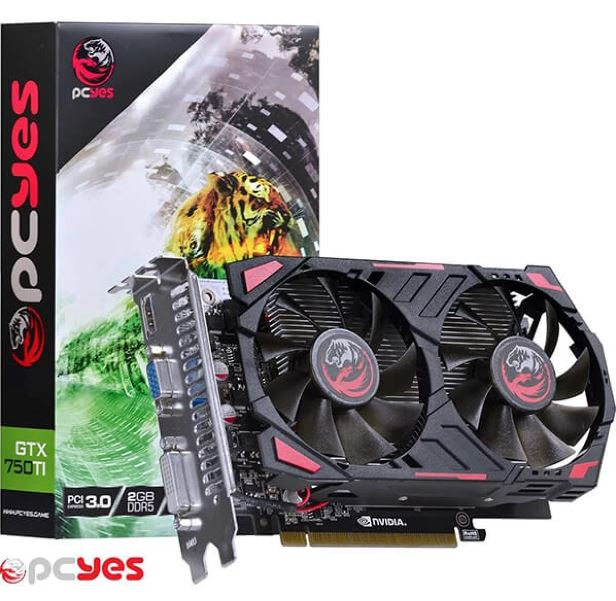 Placa De Video Gtx 750ti 2gb Gddr5 128bits Ppv70ti12802d5 Pcyes