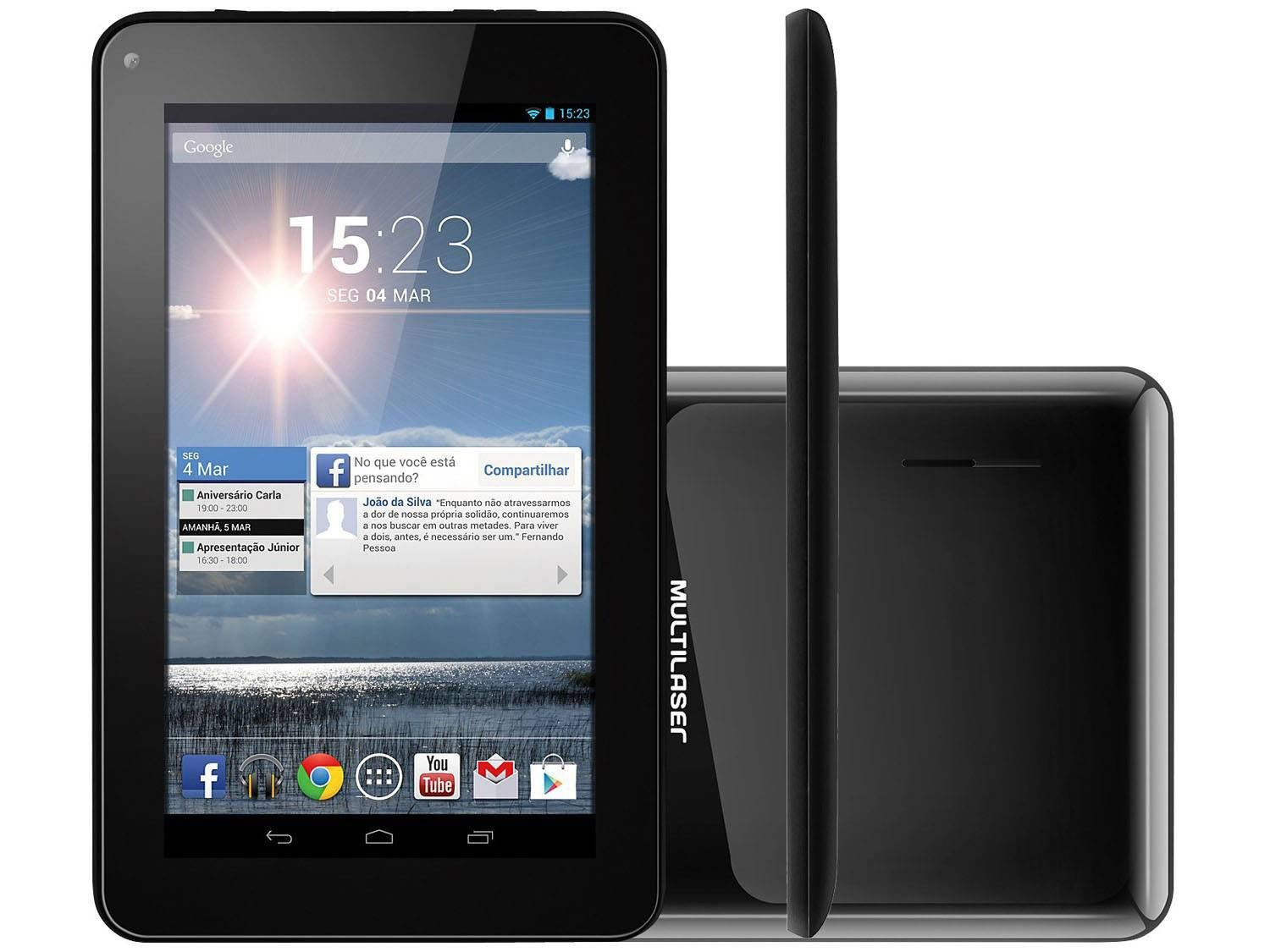 Tablet M7s Preto Quad Core Android 4.48gb Nb184 Multilaser